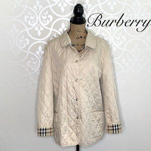 BURBERRY DIAMOND QUILTED JACKET NOVA CHECK LINING